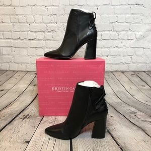 Sevilla Suede Leather Black Ankle Boot Cavallari